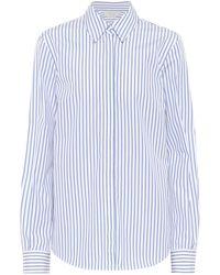 Gabriela Hearst Camisa Henri de algodón a rayas - Azul