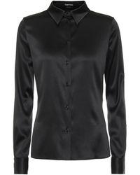 Tom Ford Stretch Silk Satin Shirt - Black