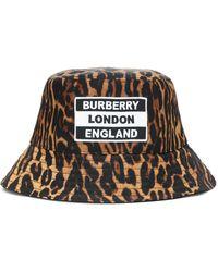 Burberry Leopard-print Bucket Hat - Multicolour
