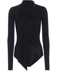 MM6 by Maison Martin Margiela Lavallière Jersey Bodysuit - Black
