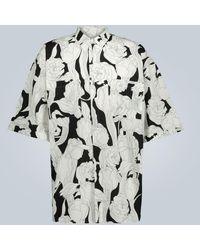 Givenchy Chemise oversize à manches courtes - Noir