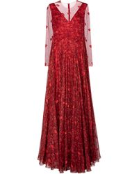 Valentino Vestido Le Rouge de seda - Rojo