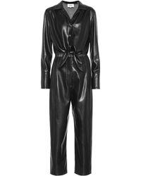 Nanushka Ana Faux Leather Jumpsuit - Black