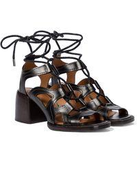 Chloé Gaile Leather Sandals - Black