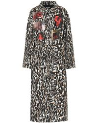 Raf Simons - Trench a stampa leopardata - Lyst