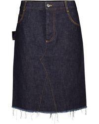 Bottega Veneta Denim Miniskirt - Blue