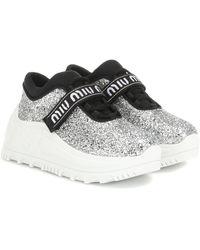 Miu Miu Sneakers mit Glitter - Mettallic