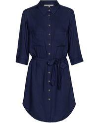 Heidi Klein Core Button-down Shirt Dress - Blue