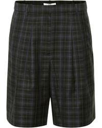 Tibi Shorts aus einem Wollgemisch - Schwarz
