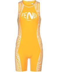 Fendi Body de punto elástico estampado - Amarillo