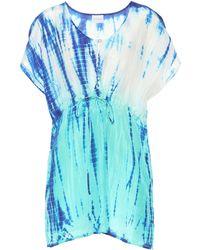 Anna Kosturova Tie-dye Silk Cover-up - Blue