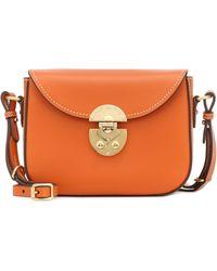 Miu Miu Small Leather Satchel - Orange