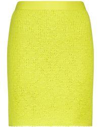 Bottega Veneta Minifalda de lana y cachemir - Verde