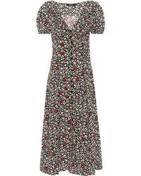 Polo Ralph Lauren Floral Crêpe Midi Dress - Multicolour