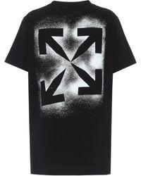 Off-White c/o Virgil Abloh T-Shirt aus Baumwolle - Schwarz