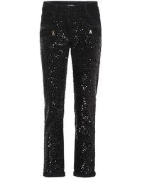 Balmain - Jeans con paillettes - Lyst