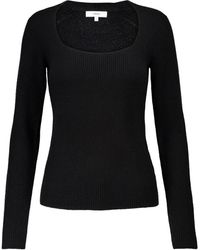 Vince Ribbed-knit Cashmere Sweater - Black
