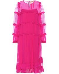N°21 Silk-chiffon Dress - Pink