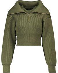 Jacquemus Cropped-Pullover La Maille Risoul aus Wolle - Grün
