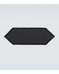 Saint Laurent Bedruckter Schal aus Seide - Schwarz