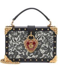 Dolce & Gabbana Clutch Dolce Box aus Leder - Schwarz