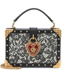 Lyst - Dolce   Gabbana Heart And Wings Patch Crossbody Bag in Black d01caa369efdf