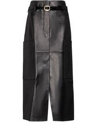 Petar Petrov Randy B Leather Pencil Skirt - Black