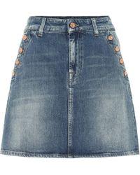 7 For All Mankind Keeper Denim Miniskirt - Blue