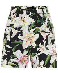 Dolce & Gabbana Shorts a stampa floreale in cotone - Multicolore