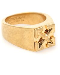 Off-White c/o Virgil Abloh Arrows Square Signet Ring - Metallic