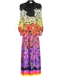 Gucci Floral Silk Maxi Dress - Multicolour
