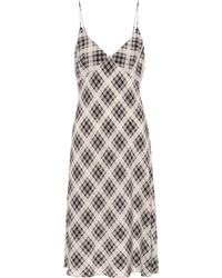 Marc Jacobs - Plaid Silk Slip Dress - Lyst