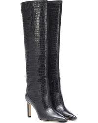 Jimmy Choo Mavis 85 Knee-high Leather Boots - Black