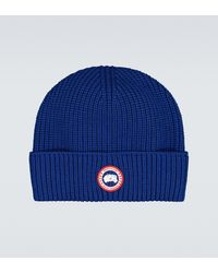 Canada Goose Arctic Disc Toque Ribbed Hat - Blue