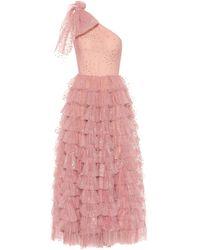 RED Valentino Vestido de fiesta de tul adornado - Rosa