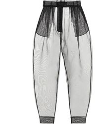 Dolce & Gabbana Chiffon Trousers - Black