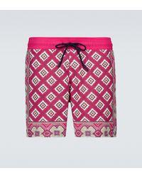 Etro Bedruckte Badeshorts - Pink