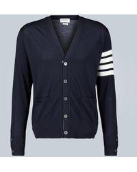 Thom Browne Cárdigan 4-Bar de lana - Azul