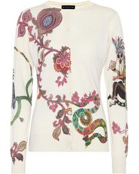 Etro - Printed Silk And Cashmere Sweater - Lyst
