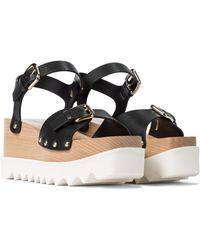 Stella McCartney Elyse Platform Sandals - Black