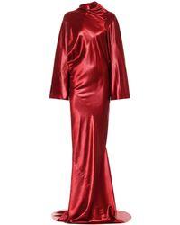 Rick Owens Robe Seb aus Satin - Rot