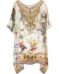 Camilla Printed Silk Kaftan - Multicolour