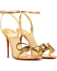 Christian Louboutin Exclusive To Mytheresa – Jewel Queen 100 Leather Sandals - Metallic