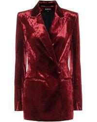 Ann Demeulemeester Stretch-cotton Velvet Blazer - Red