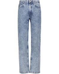 A.P.C. Jeans rectos Martin de tiro medio - Azul