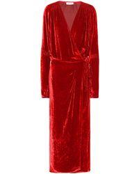The Attico Vestido wrap Victoria de terciopelo - Rojo