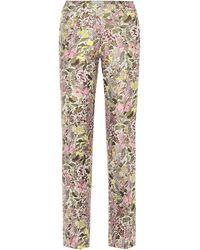 Giambattista Valli Pantalon en jacquard - Multicolore