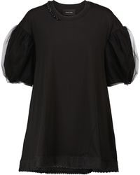 Simone Rocha Embellished Cotton Top - Black