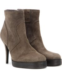 Rick Owens - Suede Ankle Boots - Lyst