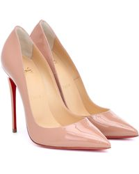 Christian Louboutin So Kate 120 Blush Patent Leather Court Shoes - Natural